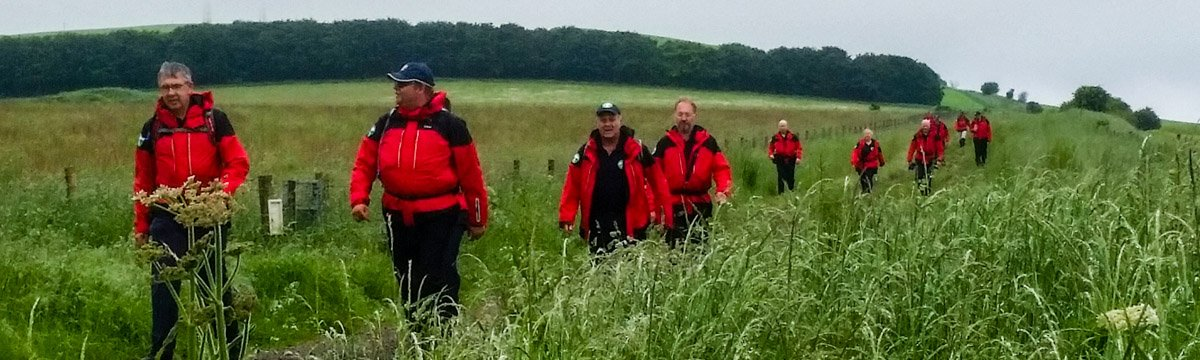 Training walk for search & rescue volunteers